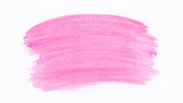 ピンクのブラシストロークの水彩画