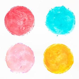 Разноцветные круги акварелью