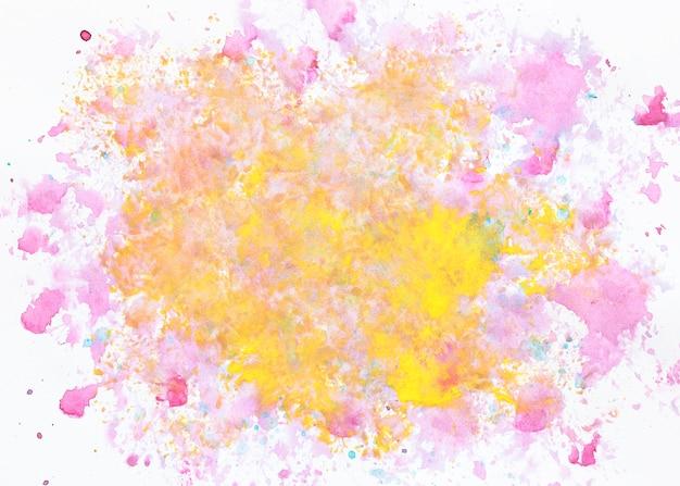 紫と黄色のカラーミックス
