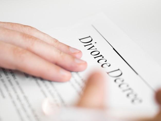 クローズアップ離婚契約書