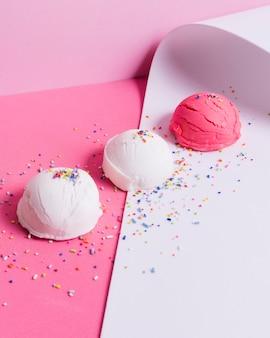 Шарики для мороженого с большим углом