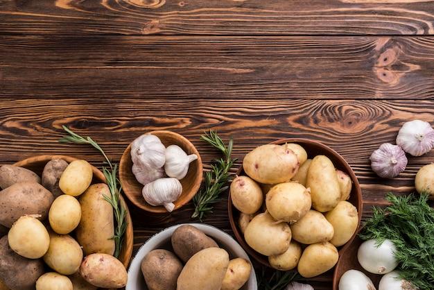 Картофель и чеснок