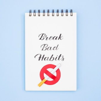 タバコで悪い習慣の概念を打ち破る
