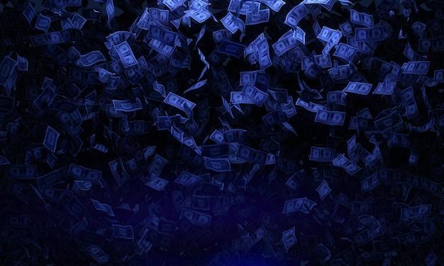Концепция падающих банкнот
