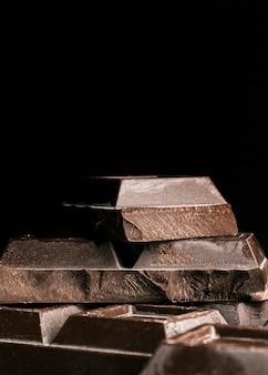 クローズアップチョコレートバーの正方形