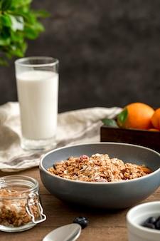 Макро вкусный завтрак готов быть подан