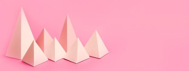 Геометрический набор бумажных элементов с копией пространства