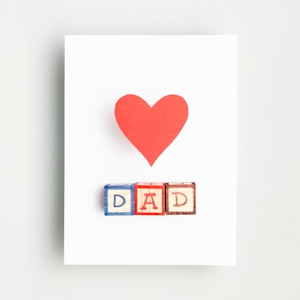 День отца концепция сверху с сердцем
