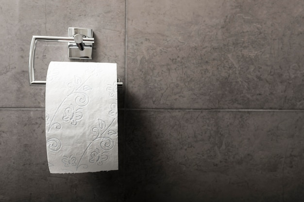 Туалетная бумага в ванной комнате с копией пространства