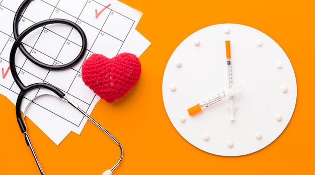 心臓治療のトップビュー時間