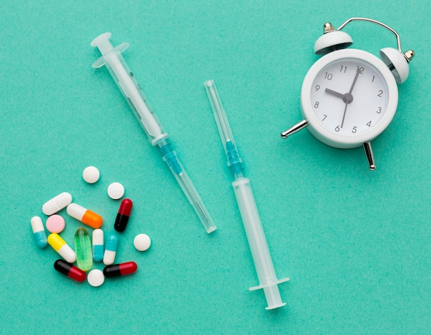 錠剤のトップビュー時間