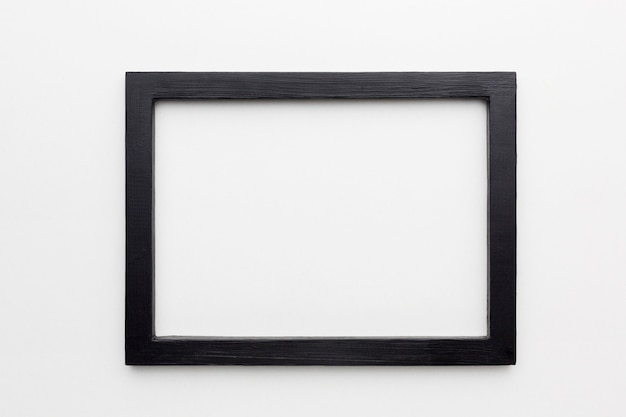 Плоская планировка черной рамки с копией пространства