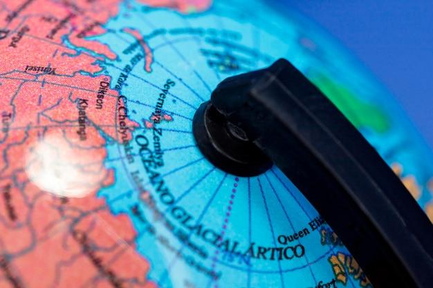 Крупный план земного шара