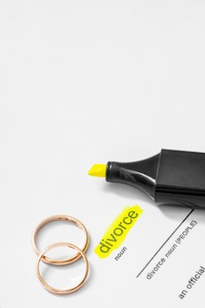 ハイライトされた離婚名詞