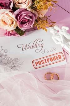 コロナウイルスのために結婚式がキャンセルされました