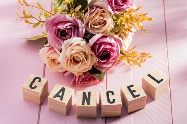 コロナウイルスのために結婚式のイベントはキャンセルされました