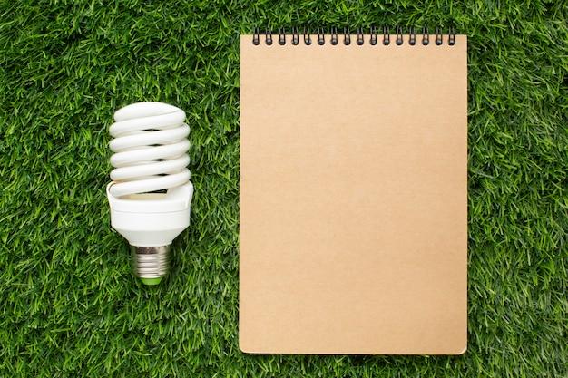 ノートブック付き電球