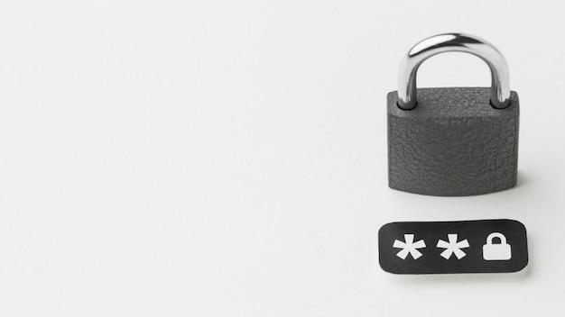パスワードとコピースペース付きの高角度のロック