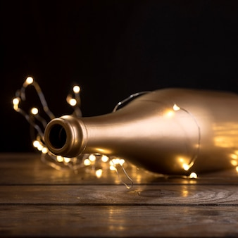 Макро юбилейная бутылка шампанского