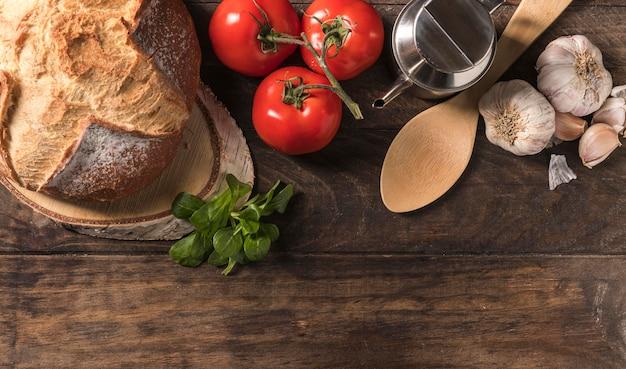 Плоская пищевая рамка с копией пространства