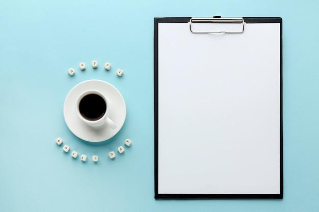 Плоская планировка концепции босс день с копией пространства