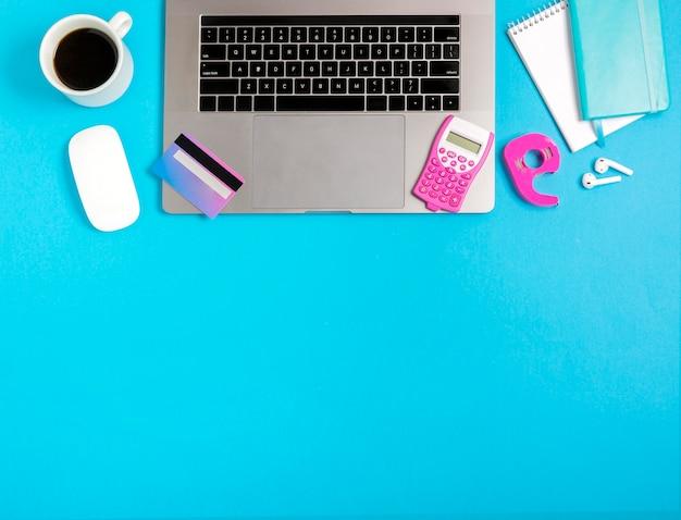 Вид сверху интернет-магазины концепции