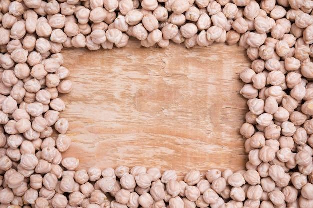 有機ひよこ豆のトップビューの品揃え
