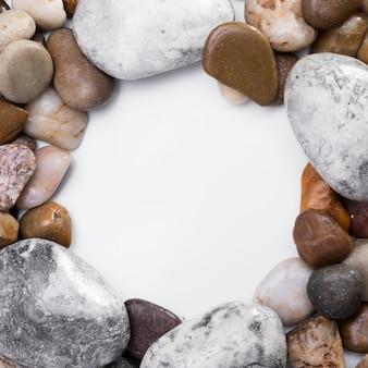 コピースペースを持つ岩のトップビューコレクション