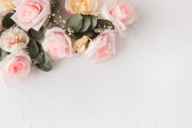 Красивая цветочная концепция с копией пространства