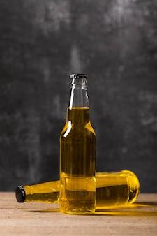 ビールのハイアングルボトル