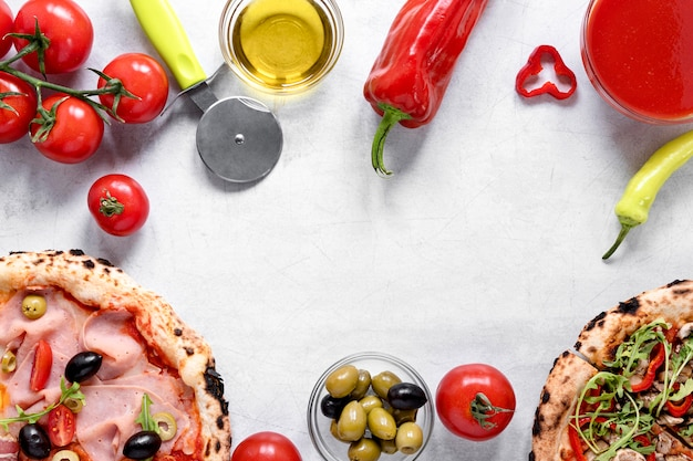 Композиция ингредиентов для пиццы
