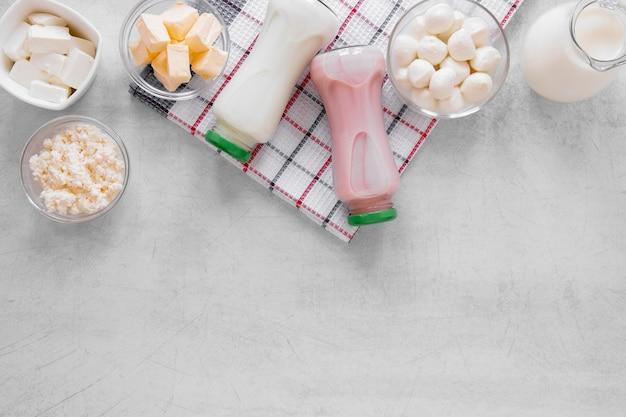 平干し乳製品の品揃え