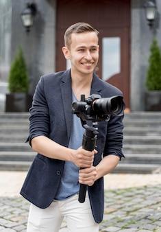 カメラでスマイリー男