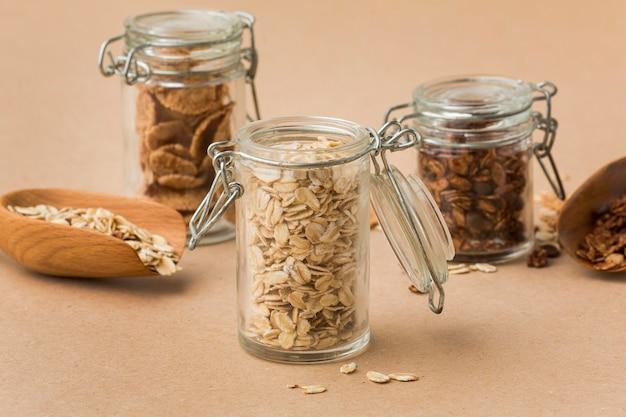 Крупный план смеси зерновых