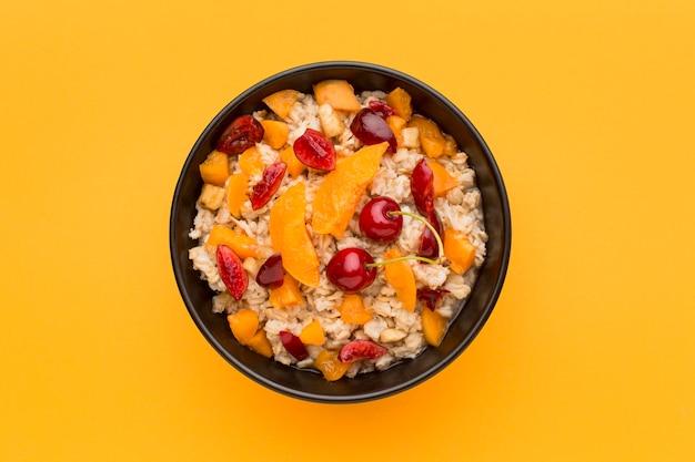 トップビューの朝食のコンセプト
