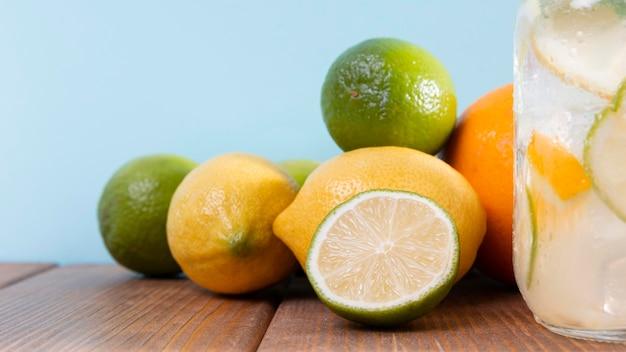 クローズアップの柑橘系の果物