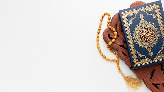 コピースペースとイスラムの新年のコンセプト