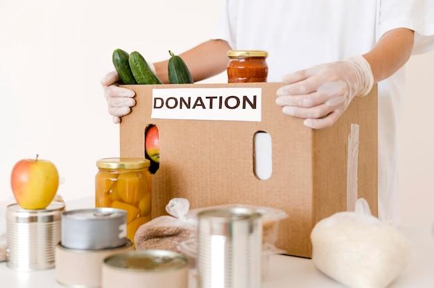 Вид спереди ящика для пожертвований с положениями