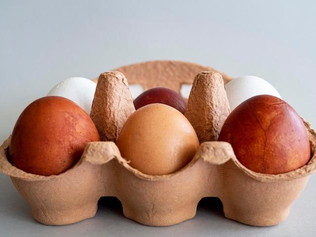 卵のクローズアップ型枠