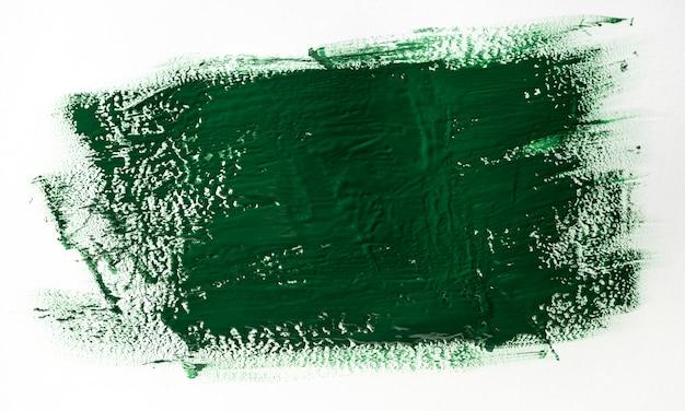 濃い緑のペイントブラシストローク効果