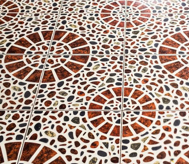 Коричневая мраморная мозаичная текстура.
