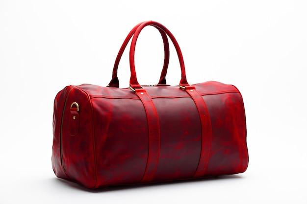 赤いバッグ旅行