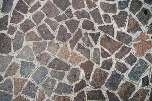 Древний итальянский типичный тротуар, рисунок крупным планом
