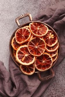 乾燥したグレープフルーツのスライス