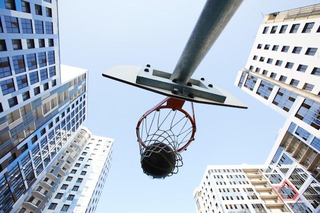 背景バスケットボールフープ