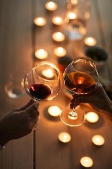 ワインとのロマンチックなデート