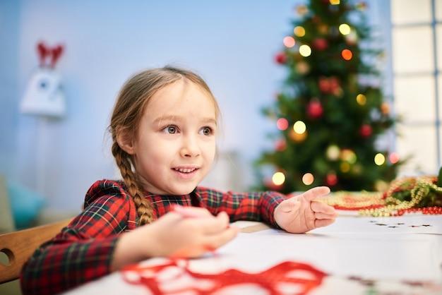 クリスマスカードを描く