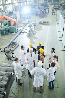 工場労働者との面談