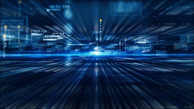 ハイテクデジタルディスプレイホログラフィック情報の抽象的な背景