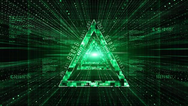 抽象的なデジタルマトリックス粒子フローの背景